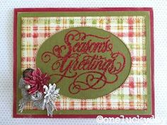 One Lucky Day: Seasonal Stampers Anonymous Christmas Paper, Handmade Christmas, Christmas Cards, Red Crafts, Distress Markers, Stampers Anonymous, Lucky Day, Winter Cards, Christmas Printables
