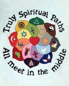Truly spiritual paths all meet in the middle.