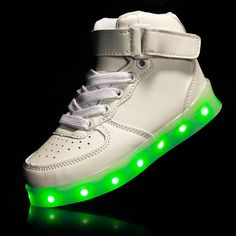 1bcc30e9f0cb8 2017 Kids Sneakers Children s USB Charging Luminous Lighted Sneakers  Boy Girls Colorful LED lights Children Shoes -in Athletic Shoes from Mother    Kids on ...