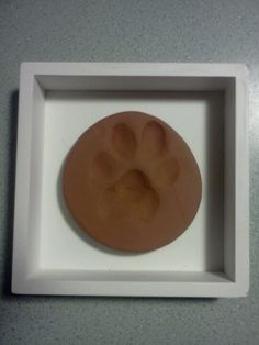 Framed clay paw print (Aries)