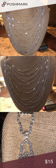 Multi Strand Delicate Silver Necklace Chloe and Isabel Chloe + Isabel Jewelry Necklaces