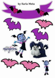 Topo de bolo vampirina Childrens Halloween Party, Casa Halloween, Halloween Party Games, Family Halloween, Halloween Crafts, Happy 6th Birthday, 3rd Birthday Parties, Girl Birthday, Unicorn Birthday