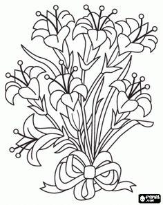 bouquet line art - Google Search