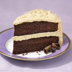 Super-moist Chocolate Cake With Fluffy Peanut Butter Frosting Recipe on Yummly. @yummly #recipe