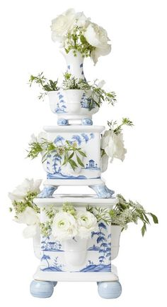 Juliska Country Estate Tulipere Tower Set of 3 - Delft Blue