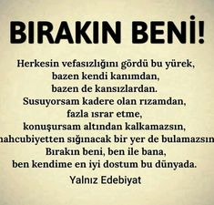 Bırakın😉 Kundalini Yoga, Loneliness, Cool Words, Karma, Favorite Quotes, Messages, Life, Solitary Confinement