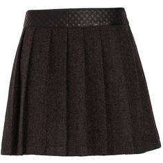 Morgan Skater skirt with quilted waistband ($24) ❤ liked on Polyvore featuring skirts, bottoms, saias, clearance, mid grey marl, circle skirt, grey knee length skirt, grey skirt, grey skater skirt and quilted skirt