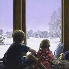 Let it Snow by Bryan Larsen at Quent Cordair Fine Art - The Finest in Romantic Realism Classical Realism, Classical Elements, Let It Snow, Let It Be, Jacob Collins, Utah State University, William Adolphe Bouguereau, Window View, Through The Window