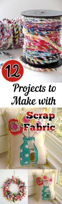 12 Projects to Make with Scrap Fabric. DIY, DIY clothing, sewing patterns, quick crafting, tutorials, DIY tutorials.