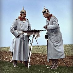 While on the Western Front just as the Great War progressively heats up, German Kaiser Wilhelm II and his frontline corespondent review a set of tactical military exercises for his German soldiers to be rendered proficient in before their upcoming (and likely first) engagement against Allied forces of the Western Front. Summer, 1914.