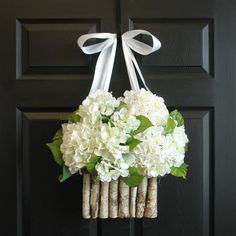 summer wreath wedding door wreaths front door decorations floral container birch bark vases welcome rustic wedding wreaths