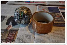 Krek Wak Wou: DIY: rustieke decoratie- en mosballen Diys, Wax, Tableware, November 2013, How To Make, Dinnerware, Bricolage, Tablewares, Do It Yourself
