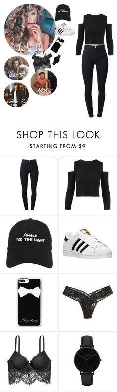 """""""-With Nate😍-  ×Ava"""" by savage-anons ❤ liked on Polyvore featuring J Brand, Nasaseasons, adidas, Casetify, Hanky Panky and CLUSE"""