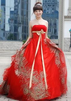 Stunning Red And Gold Wedding Dresses Images - Styles & Ideas 2018 ...