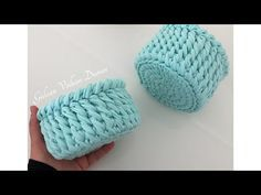 YouTube Crochet Round, Crochet Home, Love Crochet, Crochet Basket Pattern, Crochet Stitches Patterns, Crochet Needles, Crochet Yarn, Crochet T Shirts, Fabric Yarn