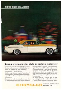 =-=Retro Car Ad - 1955 Chrysler Ad - 1950's Classic Car Advertisement -