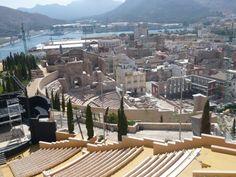 Cartagena fotografiada desde el Auditorio del Parque Torres. España. Spain **