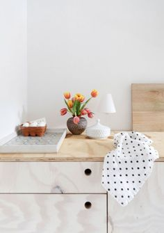 More plywood kitchen love… reverse the whitewash onto the benchtop
