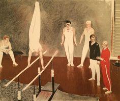 Назаров Константин Борисович : Упражнение на брусьях : 1967г