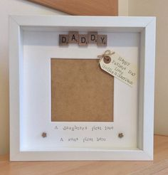 Handmade personalised scrabble tile photo frame, daddy,daughter/son,fathers day in Home, Furniture & DIY, Home Decor, Photo & Picture Frames | eBay!