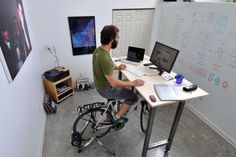 Why invest in a gym membership when you can bike while you work?