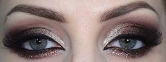 Rusty smokey eyes with glitter