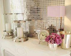mirror tiles, love this!