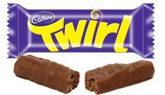 British Cadbury Twirl bar, ribbons of chocolate twirled around and then dipped in chocolate!