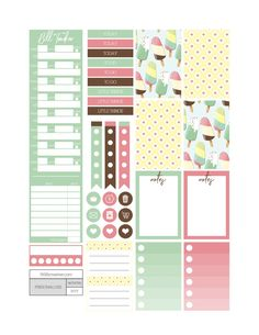 Free Printable Cream Pop Planner Stickers from Fit Life Creative