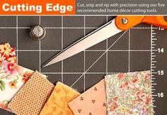 Essential sewing tools for the beginner like me.  Definitely need a rotary cutter and cutting mat! Pronto!