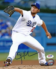 Clayton Kershaw Autographed Los Angeles Dodgers 8x10 Photo PSA/DNA ITP Stock #94443