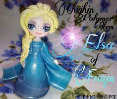 Elsa of Frozen (Polymer clay) (FB PAGE:CHIBIPOP)