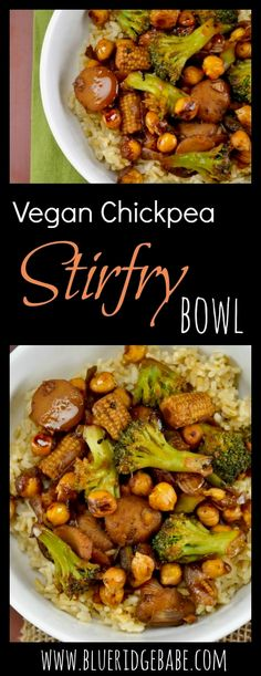 vegan chickpea stirfry bowl - satisfy your takeout craving the healthy way!