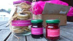 Marmeladen: Schwarze Johannisbeere und Himbeere-Rote Johannisbeere