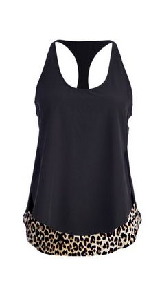Leopard Border Workout Tank