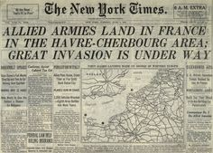 ❖ June 6, 1944 ❖ D-Day: the day the Allied powers crossed the English Channel and landed on the beaches of Normandy, France, beginning the liberation of Western Europe from Nazi control during World War II. Within three months, the northern part of France would be freed and the invasion force would be preparing to enter Germany, where they would meet up with Soviet forces moving in from the east.