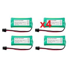 4 Fenzer Rechargeable Cordless Phone Batteries for Uniden BT-1008 BT1008 Cordless Telephone Battery Replacement Packs