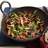 Pork & Broccoli Stir-Fry -- Instead of Oyster Sauce, because of Sam, I used low-sodium soy and a hit of siracha