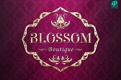 Blossom Boutique Logo Template by PenPal on @creativemarket