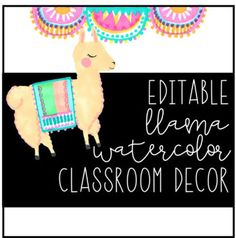 TWO versions are included-- white background & watercolor background Each pack includes - student and calendar numbers - table numbers - supply labels - desk name plates - schedule cards - month cards - job cards - word wall letters versions) - Classroom Decor Themes, Classroom Setting, Classroom Design, Future Classroom, Classroom Organization, Classroom Ideas, Classroom Projects, Kindergarten Classroom, Classroom Activities