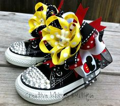 Your place to buy and sell all things handmade Bling Baby Shoes, Baby Bling, Bling Converse, Baby Converse, Diy Fashion, Fashion Ideas, Minnie Mouse Baby Shower, Awesome Shoes, Pretty Baby