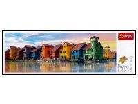Trefl: Panorama - Groningen, Netherlands (1000) Puzzle Art, Netherlands, Painting, The Nederlands, Painting Art, Holland, Paint, The Netherlands, Draw