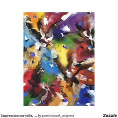 """Impression sur toile,  """"Abstract 2.1705"""""""