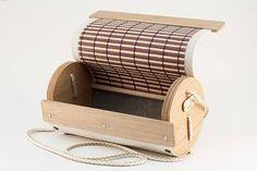 Ale: Handmade Wooden Bag Wood and Canvas Oak Wood Wooden Bag, Wooden Boxes, Canvas Fabric, Cotton Canvas, British Pub, Handmade Wooden, Crossbody Bag, Bronze, Unique