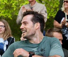 Making sure his brothers know he's finished the run and his time, no rivalry there huh Cavill...lol!! :)