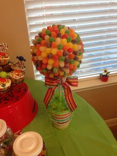 Candy Land Candyland Birthday Party Gumdrop Topiary Tree