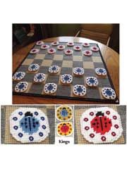 Ladybug Checker Game  How to make games in plastic canvas #plasticcanvasgames