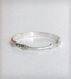 Silver Tiny Arrow Stackable Ring