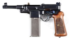 EXCEPTIONALLY RARE MAUSER M1906-08 SELF-LOADING PISTOL WITH 20 SHOT MAGAZINE.