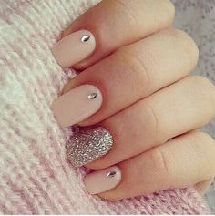 Faint pink and glitter